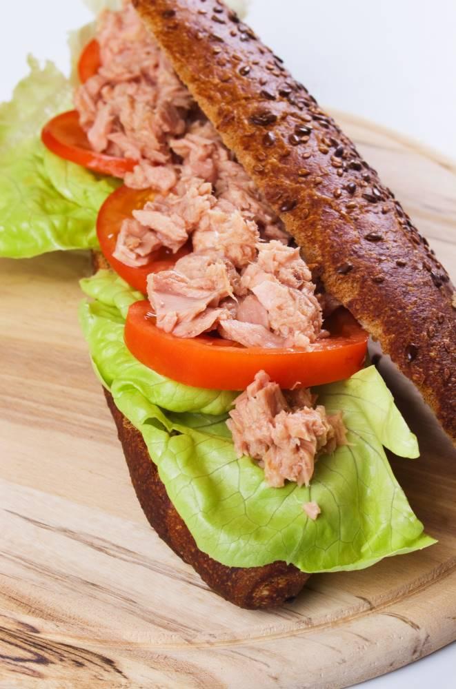 Delicious looking tuna sandwich