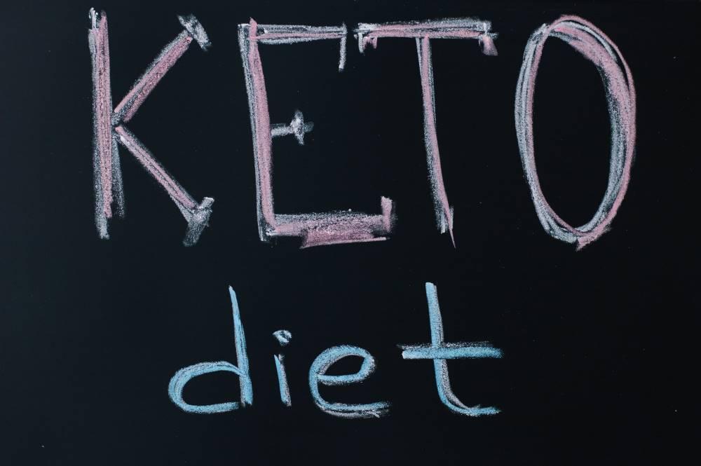 Keto diet written on a chalk board