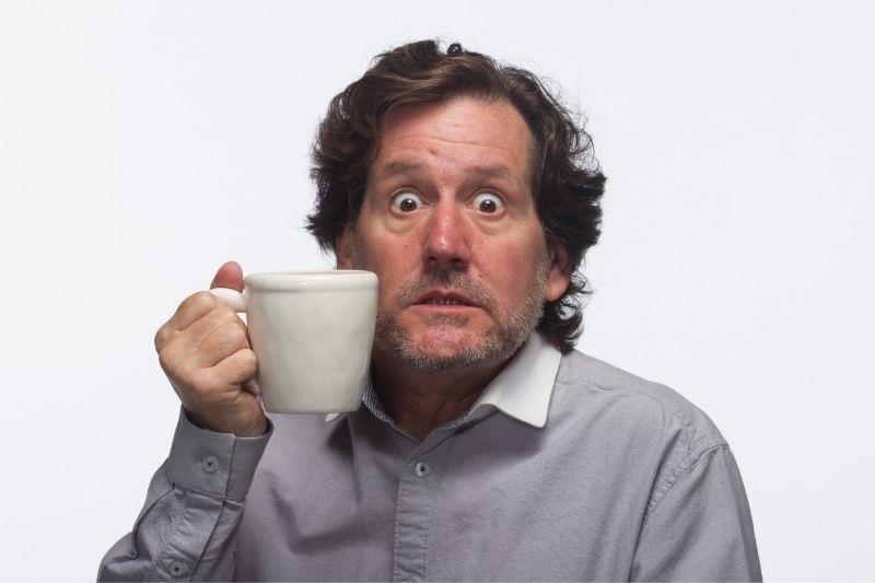Man had too much caffeine