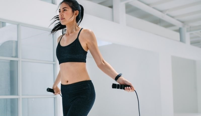 Woman doing jump rope