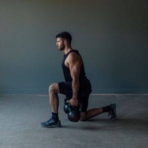 lunge with heavy weight