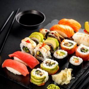 many variety of sushi