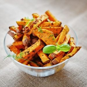 some fries sweet potatoes in a bowl